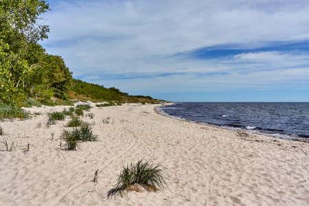 A beautiful scenery of Baltic sea beach on the southern coast of Bornholm Island, Denmark