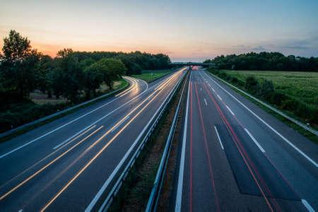 German Highway at Sunset
