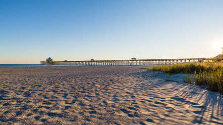 long pier at folly beach, charleston, south carolina, usa