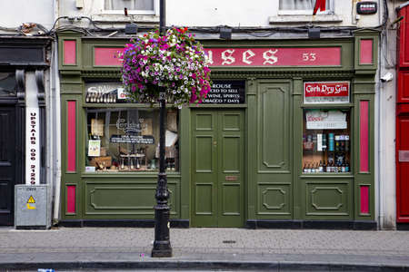 BALLINA, IRELAND - Jul 28, 2019: Typical Irish pub in Ballina, County Mayo Editorial
