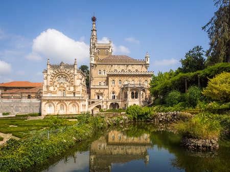 SERRA DO BUçACO, PORTUGAL - Sep 05, 2018: Gardens of the Bucaco Palace, Serra do Bucaco, Mealhada, Portugal