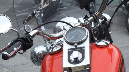 SAN SEBASTIáN, SPAIN - Jun 01, 2013: View of the dashboard of a Harley Davidson