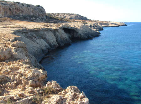 The Ayia Napa Coast under the sunlight at daytime in Cyprus - cool for backgrounds and wallpapers