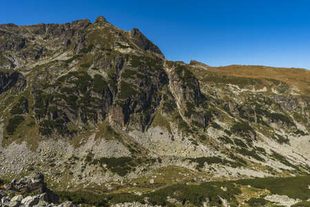 The rocks at the Peak Orlovetz and Zliq Zub Rila mountain, Bulgaria