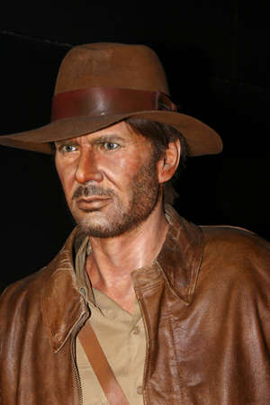 SAN ANTONIO, UNITED STATES - Sep 28, 2006: Waxwork of Harrison Ford as Indiana Jones. Taken in wax museum in San Antonio.