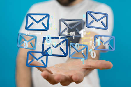 Mail Communication Connection message to mailing Stockfoto