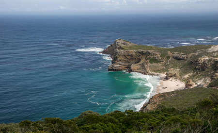 The Cape of Good Hope surrounded by the sea under the sunlight at daytime in South Africa