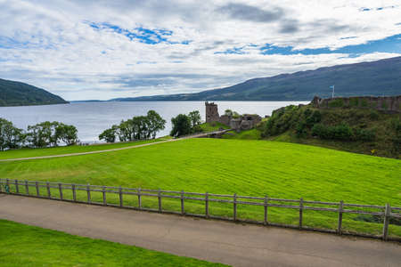 The ruins of the famous Urquhart Castle, Loch Ness, in the Highlands, Scotland