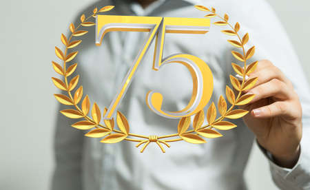 Template 3d  Years Anniversary Illustration Banco de Imagens