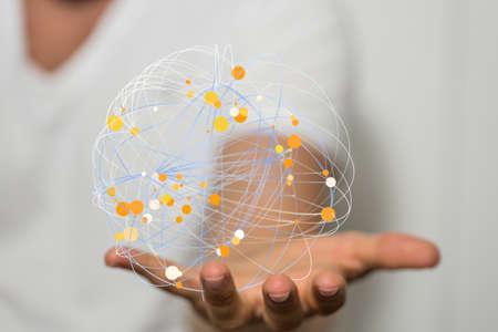 the 3d Global Network Of People Banco de Imagens