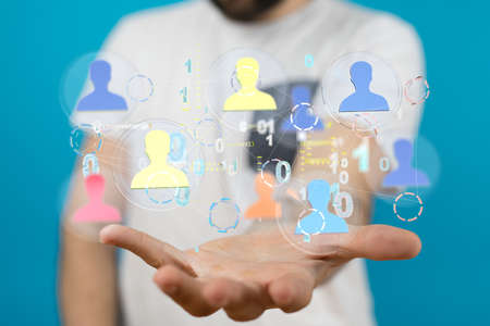 conceptual image with social connection