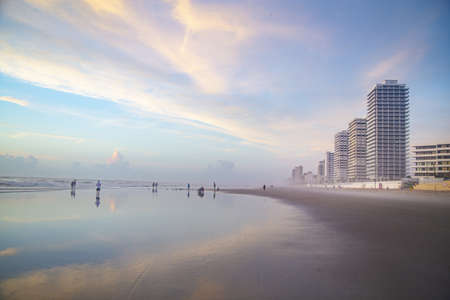 A beautiful shot of buildings near the Daytona Beach in Florida