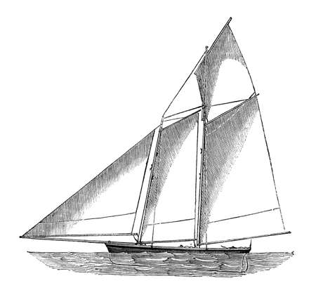 A photo of an illustration of a sailboat on a white background