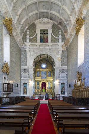 AVEIRO, PORTUGAL - Feb 19, 2020: Interior view of the Igreja da Misericórdia (The Church of Mercy) interior in Aveiro, Portugal, Europe Editorial