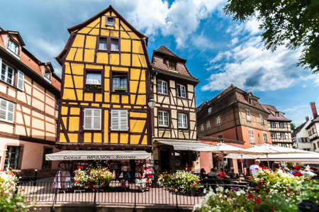 COLMAR, FRANCE - Jul 13, 2019: Colmar, Alsace | France -  View of the city called