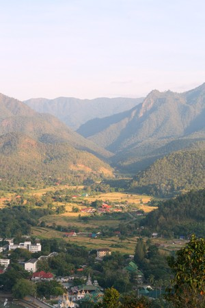 morn: The Pai valley morning Stock Photo