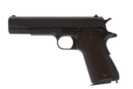 legendary: American legendary pistol on white background military model