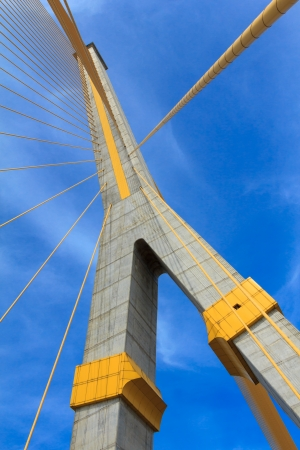 Rama VIII bridge landmark of Bangkok Thailand photo