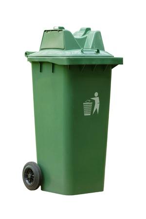 garbage bin large outdoor green garbage bin on white background
