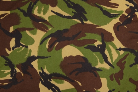 British armed force dpm camouflage fabric texture background Stock Photo