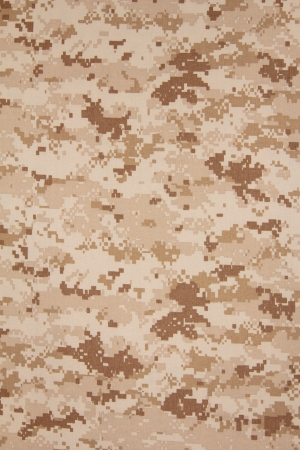 US marine desert marpat digital camouflage fabric texture background Stock Photo