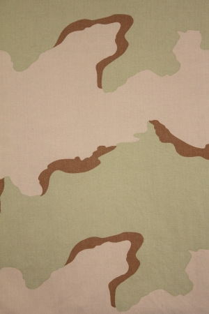US three color desert camouflage fabric texture background photo
