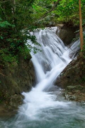 Waterfall in Erawan national park, level 3, Kanchanaburi Stock Photo - 16761703