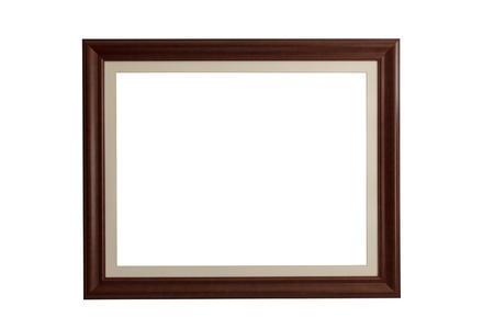 Wooden rectangle picture frame with mount photo