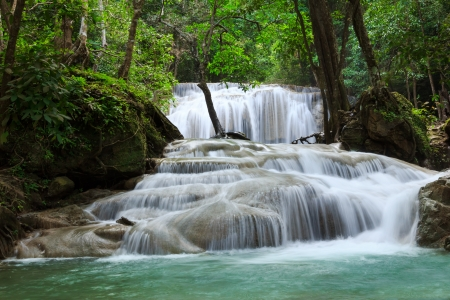 erawan: Waterfall in Erawan national park, level 1, Kanchanaburi