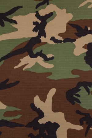 US military woodland camouflage fabric texture background Stock Photo - 18902241