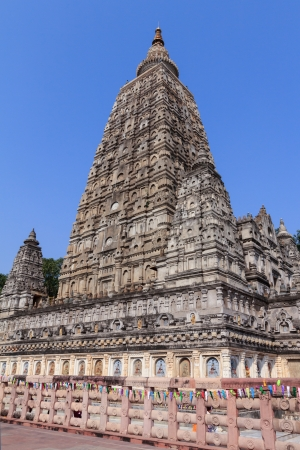 Mahabodhi temple, bodh gaya, India. The site where Gautam Buddha attained enlightenment. Stock Photo - 18902238