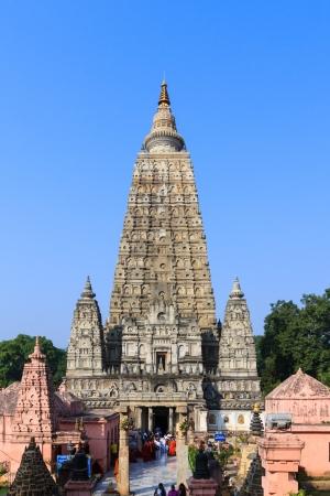 Mahabodhi temple, bodh gaya, India  The site where Gautam Buddha attained enlightenment Stock Photo - 19941439