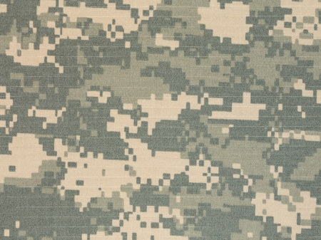 US army acu digital camouflage fabric texture background Stock Photo