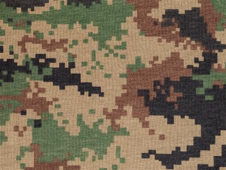 Royal thai marine  digital woodland camouflage fabric texture background photo