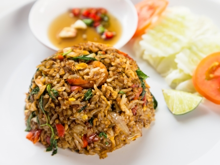 brawn: Fired rice with brawn sauce Thai style