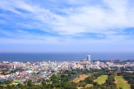 hin hua: Hua Hin city from scenic point, Hua  Hin, Thailand Stock Photo