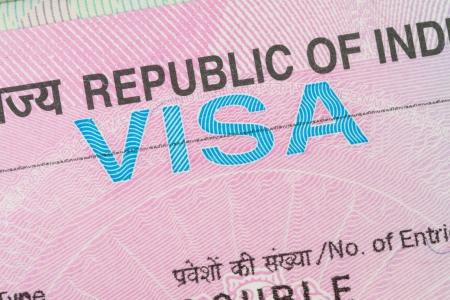 インド ビザ パスポート マクロで
