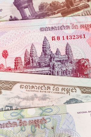riel: Cambodia riel money banknote close-up