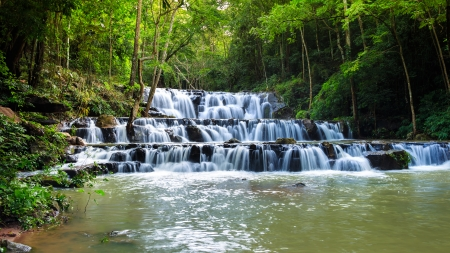 namtok: Waterfall in Namtok Samlan National Park, Saraburi, Thailand