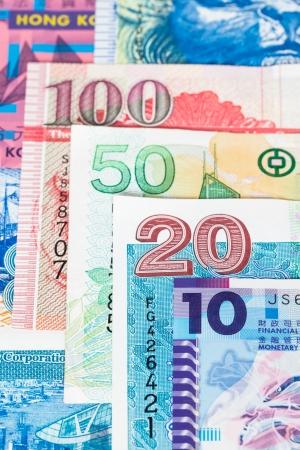 letra de cambio: Hong Kong dólar dinero billete close-up