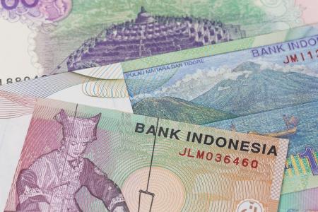 rupiah: Indonesian money rupiah banknote  close-up