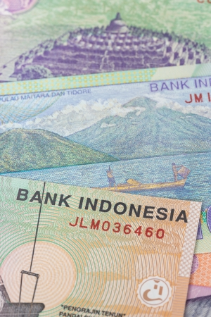 Indonesian money rupiah banknote  close-up photo