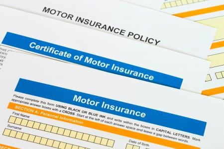 Motor or car insurance application photo