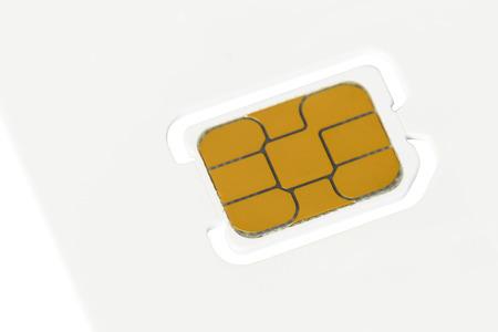 Nano sim card blank on white background photo