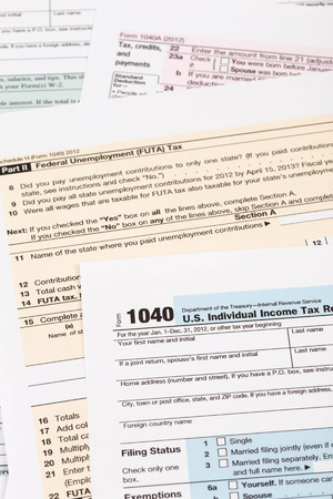 Tax form taxation concept Stock Photo