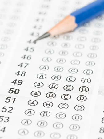 Blank Answer Sheet With Pencil Stock Photo