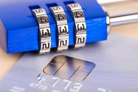 combination: Combination padlock on credit card