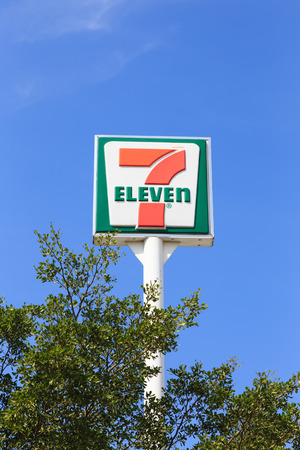 convenience store: Bangkok, Thailand - Dec 20, 2014 : 7-Eleven, convenience store with largest number of outlets in Thailand.