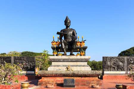 Monument of King Ramkhamhaeng the Great in Sukhothai historical park