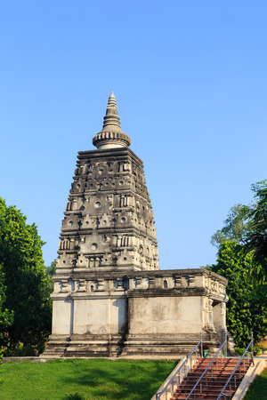 Animesa Locana (The Place of Unwinking Gazing) at Mahabodhi temple, bodh gaya, India photo